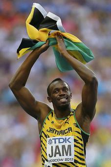 Jamaica's Usain Bolt after the men's 4x100metre relay during day nine of the 2013 IAAF World Athletics Championships