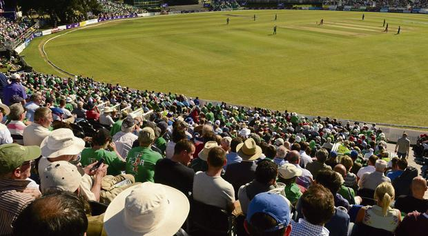 10,000 people on a Tuesday afternoon suggests this is becoming a serious cricket market. Photo: Paul Mohan