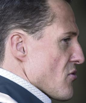 Michael Schumacher who is in a critical condition in hospital after a skiing accident in France.