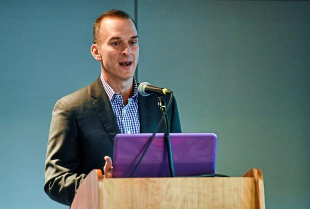 Travis Tygart, Chief Executive Officer, US Anti-Doping Agency (USADA) speaking at an Anti Doping Information Day