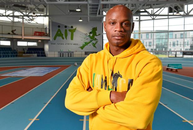 Former world record holder Asafa Powell is a star attraction in Athlone