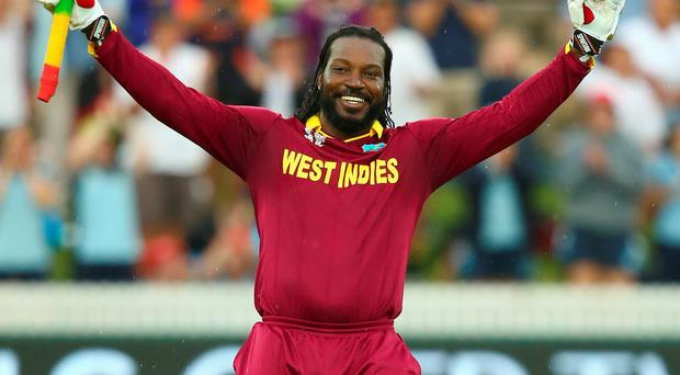 Chris Gayle was in unstoppable form in Canberra yesterday