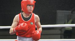 Katie Taylor, here at the 2014 European Women's Boxing Championships in Romania, is ready for the challenges of Baku