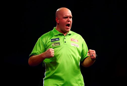 Michael van Gerwen of Holland Photo: Getty