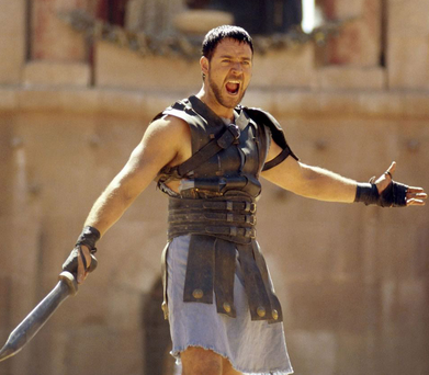 Russell Crowe in the 2000 blockbuster 'Gladiator'