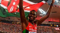 David Rudisha is targeting a hat-trick of Olympic 800m titles at Tokyo 2020