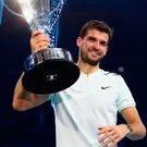 Grigor Dimitrov celebrates. Photo: Getty Images