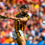 Hogan's stand: Kilkenny's Richie Hogan shoots to score his team's second goal despite being hooked by Cork's Sean O'Donoghue. Photo: RAMSEY CARDY/SPORTSFILE