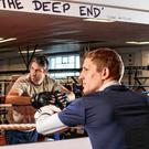 The pair prepare for a training session in Macho Gym, Walkinstown, Dublin. Photo: Mark Condren