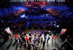 'The fight is a classic example of how top-end sport in America has been absorbed into the entertainment industry. The gargantuan Las Vegas entertainment machine has been in overdrive for weeks'