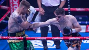 Monaghan boxer Stevie McKenna in action. Picture credit: Hennessy Sports/Lawrence Lustig