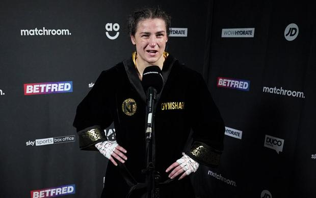 Eddie Hearn says that Katie Taylor will have a home bout in the future. Photo: Sportsfile