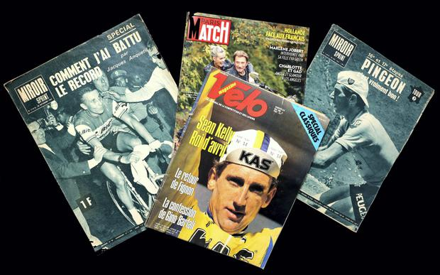 French magazines from stall