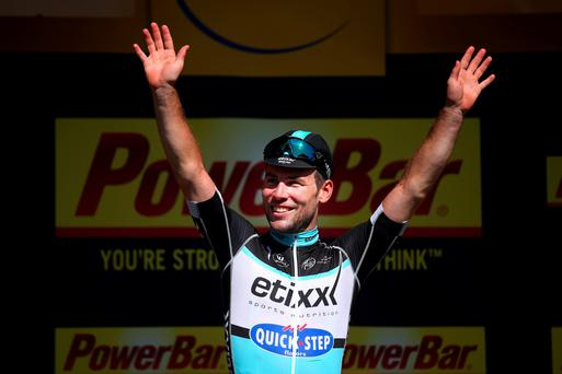Cavendish dedicated the win to team-mate Tony Martin, who had surgery on a fractured collarbone yesterday
