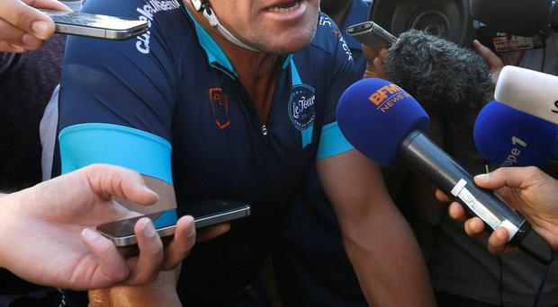 Lance Armstrong is still the focus of media attention