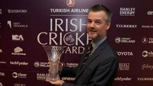 Andy McCrea won the Sunday Independent/Aengus Fanning Outstanding Contribution to Coaching Award at the Irish Cricket Awards. Photo: Donall Farmer