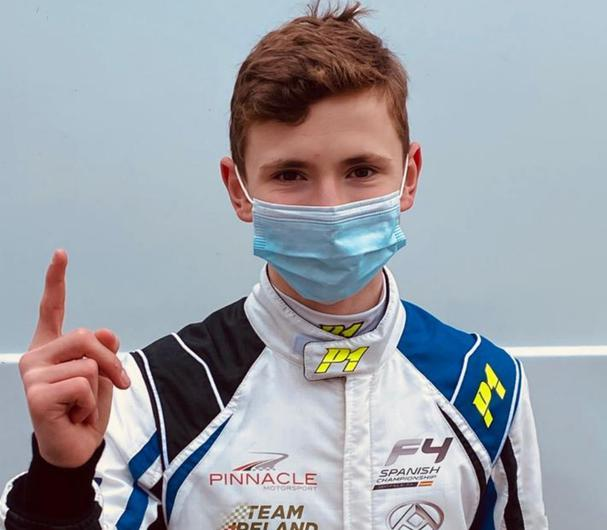 Alex Dunne impressed the Formula 4 paddock at Spa-Francorchamps with a maiden pole position