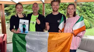 The family of Olympic gold rowing winner Fintan McCarthy – parents Tom and Sue, his sister Caitlin and his brother Jake. Picture: Provision