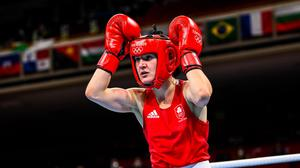 Kellie Harrington is one win away from securing at least a bronzemedal. Photo: Stephen McCarthy/Sportsfile