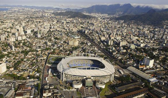 Rio's Olympic Stadium, pictured in November 1,000 days before the start of the Games