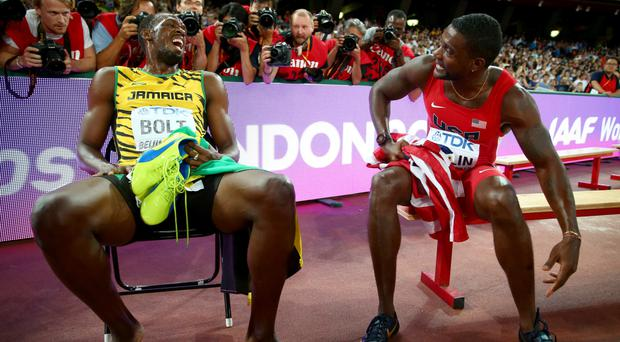 Usain bolt against Justin Gatlin is more complicated than good v evil according to Michael Johnson. Photo: Getty