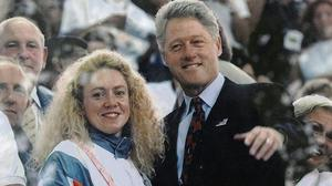Michelle Smith with US president Bill Clinton