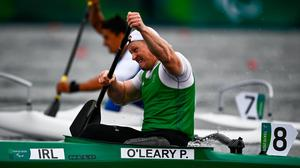 Patrick O'Leary of Ireland competing in the Men's VL3 200 metre sprint A final at the Sea Forest Waterway on day eleven during the Tokyo 2020 Paralympic Games. Photo by David Fitzgerald/Sportsfile