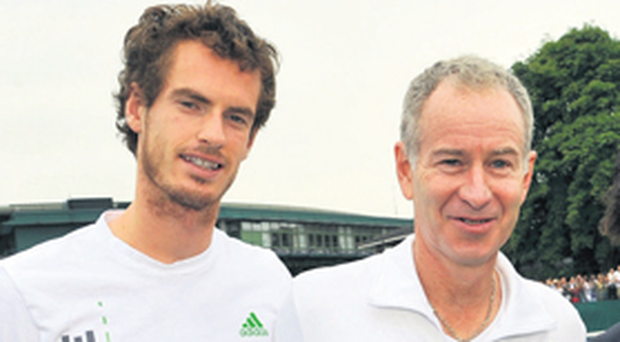 Andy Murray and former Wimbledon champion John McEnroe