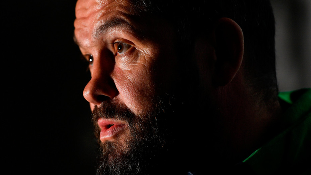 Big task ahead: Ireland head coach Andy Farrell addresses the media at Cork's River Lee Hotel yesterday. Photo: Sportsfile