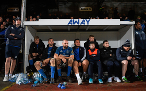 Players look on from the bench during the victory in Wales last weekend