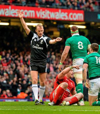 Wayne Barnes is just one guy, and how he was supposed to judge what was going on in the scrum between Ireland and Wales was perplexing.