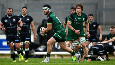 Connacht's Tom Daly in action during their Guinness PRO14 Rainbow Cup clash against Ospreys at The Sportsground, Galway. Photo: Piaras Ó Mídheach/Sportsfile
