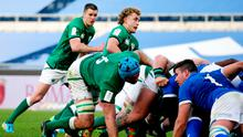Craig Casey in action during Ireland's Six Nations win over Italy at Stadio Olimpico in Rome, Italy. Photo: Roberto Bregani/Sportsfile