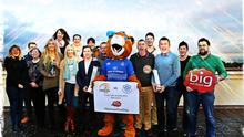 Bank of Ireland will this weekend hand over the Leinster Rugby jersey to Big Red Cloud, the winners of the recent 'Sponsor for a Day' competition