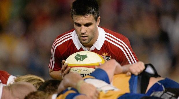 Conor Murray in action for the Lions during their victory over Combined Country