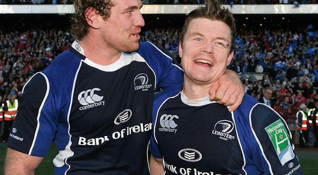 Rocky Elsom with team-mate Brian O'Driscoll in 2009