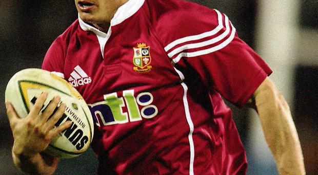 Austin Healey in action for the Lions in 2001