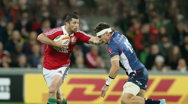 Rob Kearney in action for the Lions against the Melbourne Rebels