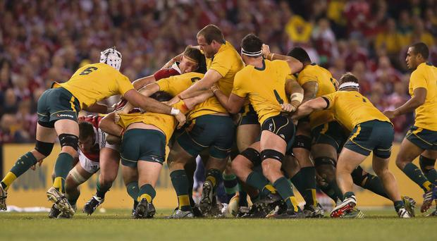 The Wallaby pack causde problems for the Lions during game two