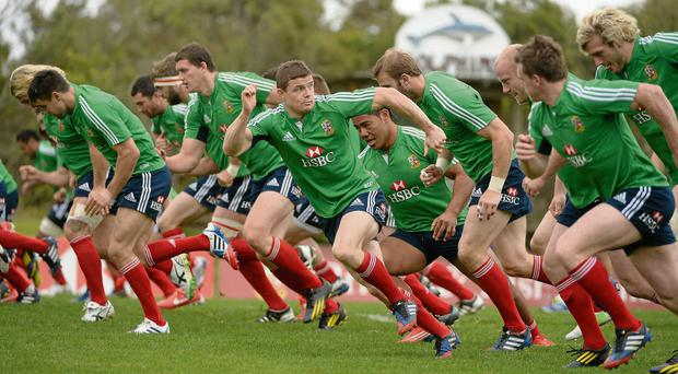 Brian O'Driscoll is the central figure as the Lions go through their paces ahead of Saturday's third and final Test