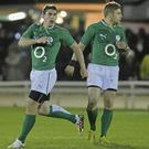 Ian Keatley, left, and Ian Madigan