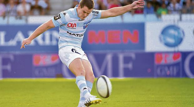 Jonathan Sexton kicked 14 points for Racing Metro at the weekend