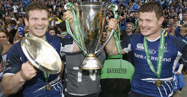 Gordon D'Arcy and Brian O'Driscol celebrate Leinster's Heineken Cup triumph in 2012 competition but is there a future for the competition?