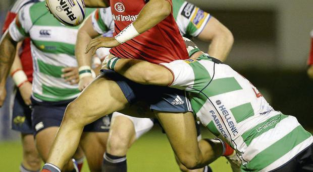 Simon Zebo in action against Treviso