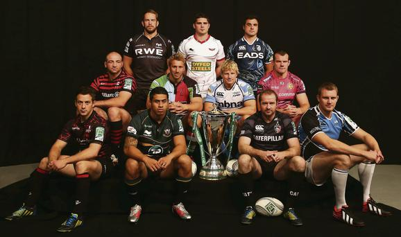 The captains of the British clubs who competed in last season's Heineken Cup