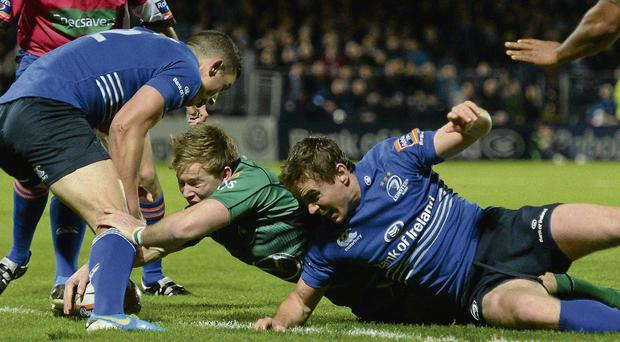 Kieron Marmion scores a try for Connacht at the RDS last night