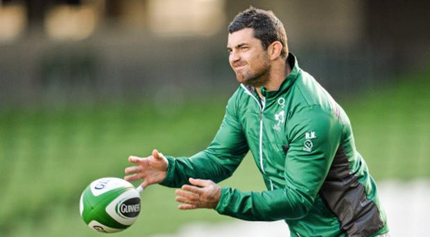 Rob Kearney pictured during an Ireland open training session ahead of their Guinness Series International game against Samoa