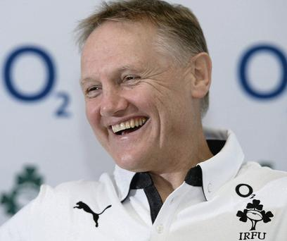 Joe Schmidt is delighted to be back on the training pitch as he is 'still getting used to' being an international coach.