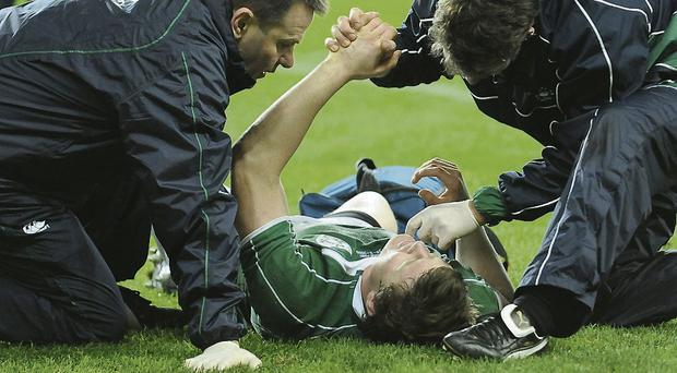 Brian O'Driscoll: Ireland's most capped centre has suffered multiple high-profile head injuries down the years, most notably during a game against England in 2009