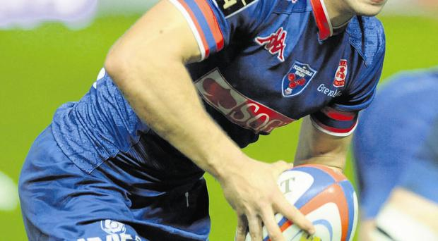 Grenoble's French scrum-half James Hart